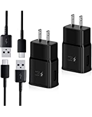 Adaptive Fast Charger kit,Wall Charger Adapter Compatible with Samsung Galaxy S8/S9/S10 Plus/note8/9, Include 2X Charging Adapter + 2X Type-C Cable (2 Packs)