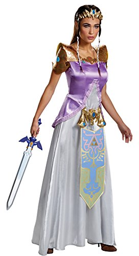 Disguise Women's The Legend of Zelda Outfit Deluxe Fancy Dress Halloween Costume, Plus (18-20) -