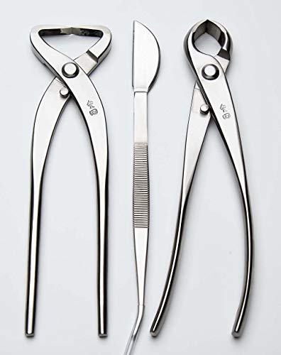 3 PCS Bonsai tool Set JTTK-17 Knob Cutter / Trunk Splitter / Bonsai Tweezers Master Grade Bonsai Tools Excellent Quailty ()