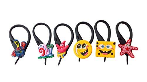 AVIRGO 6 pcs Soft Zipper Pull Charms for Backpack Bag Pendant Jacket Set # (Mr Krabs Costumes)