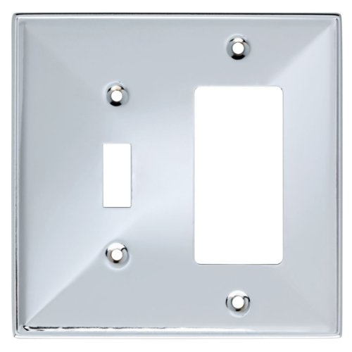 Franklin Brass 135880 Beverly Single Toggle Switch/Decorator Wall Plate / Switch Plate / Cover (Chrome Outlet Cover compare prices)