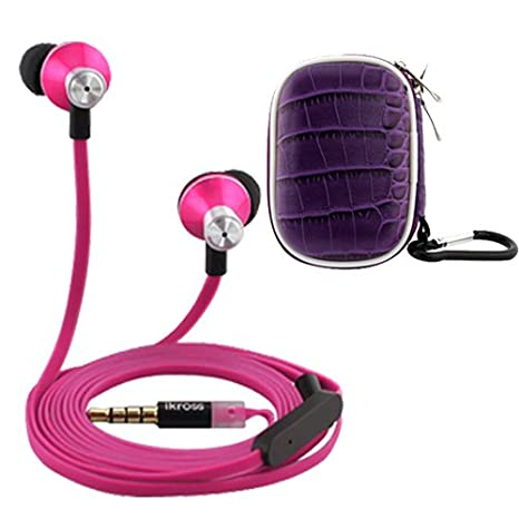 Ikross in-ear 3.5 mm noise-isolation stereo auricolari con microfono  vivavoce (rosa 5fa88c703862