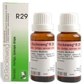Dr.Reckeweg Germany R29 Vertigo, Syncope Drops Pack Of 2 (Best Remedy For Vertigo)