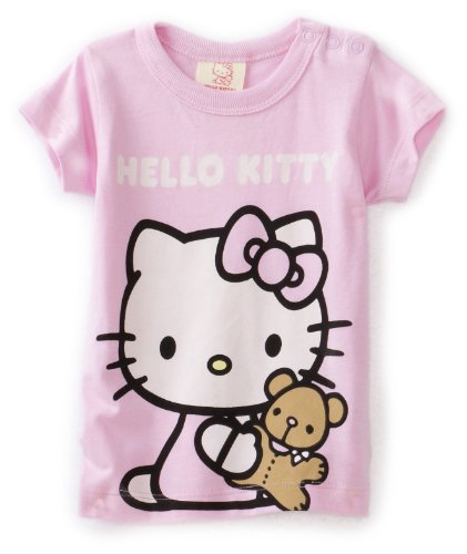 Hello Kitty Organics Baby Girls' Tiny Chum Short Sleeve Snap T-Shirt
