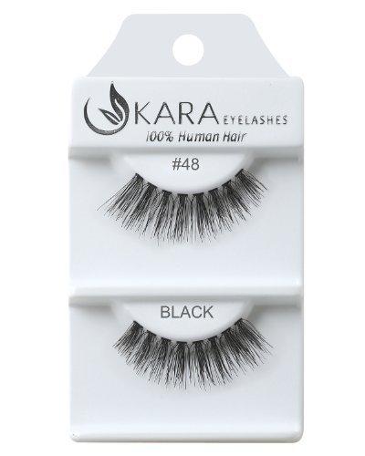 Kara Beauty Human Hair Eyelashes - 48 (Pack of 12)