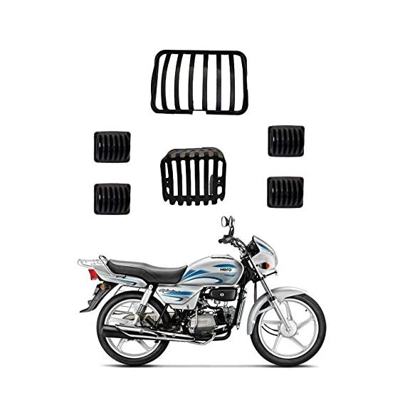 BIGZOOM Headlight Grill Tail and Indicator Complete Grills Set (Pack of 6) of Hero Splendor