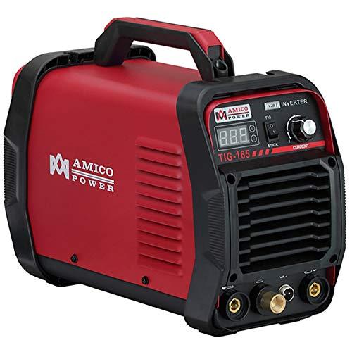Amico TIG-165, 160 Amp TIG Torch High Frequency Start with Stick ARC Welder, 115/230V Dual Voltage Inverter Welding Machine