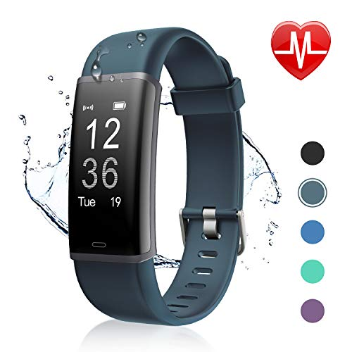 (Letsfit Fitness Tracker, Activity Tracker Watch with HR Monitor, Fitness Tracker Sleep Monitor Pedometer Watch Step Counter Calorie Counter Watch Compatible with Android/iPhone for Kids Women and Men)
