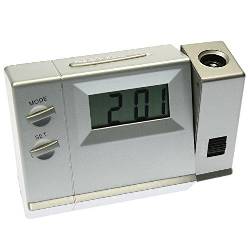 Reloj Despertador Proyector a pilas - Mod.0553 Color plata ...