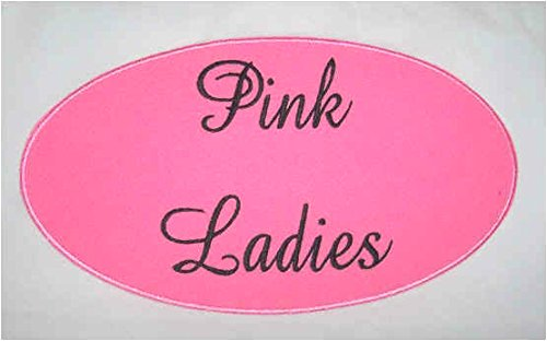 Grease 2 Costume (Pink Ladies Patch (3.5 Inch) Embroidered Iron / Sew on Badge Applique Grease Costume 1950's Cosplay Movie Souvenir)