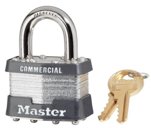 6 Pack Master Lock 1KA-2006 1-3/4'' Wide Keyed Alike Commercial Grade Laminated Padlock with 15/16'' Shackle Height - Keyed to 2006 Key Code by Master Lock