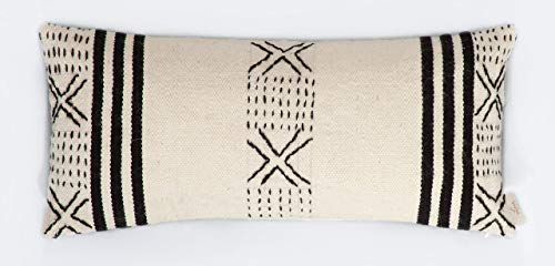 Incrocio - Hand Embroidered Hand-Woven Wool Pillow Cover Made Of High Quality Durable THICK Wool ()