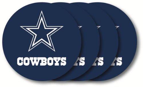 (Dallas Cowboys Coaster 4 Pack Set, Blue)