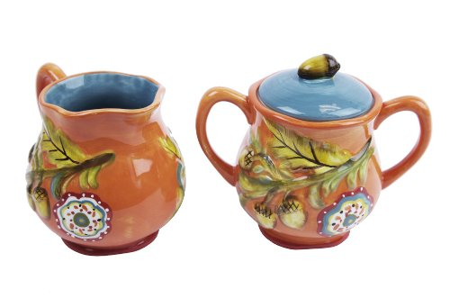 Cypresrs Home Harvest Blessings Sugar and Creamer Set