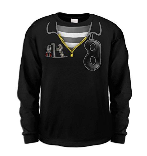 Burglar Costume Long Sleeve Kids T-shirt - Black 9/11 Years - Burglar Bill Costume