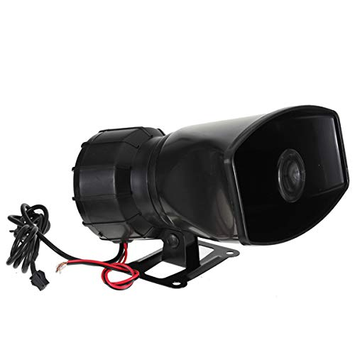 12V 300 DB Loud Horn Siren 5 Sounds Tone PA System 60W for Car Auto for Van Truck Transport-Accessories
