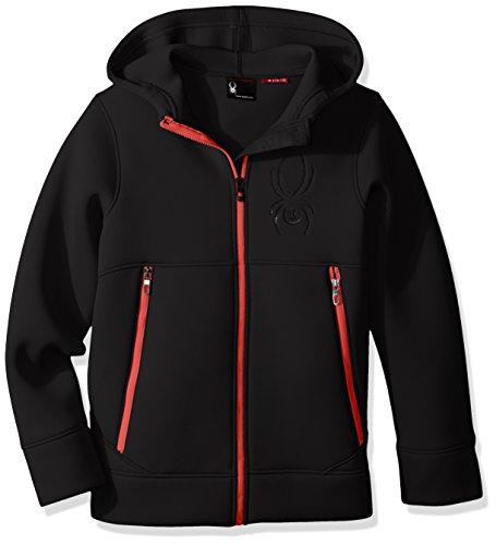 Spyder Boys Orbit Fleece Jacket, Black/Formula, XX-Small