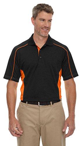 Extreme Eperformance Men's Fuse Snag Protection Plus Polo, 3XL, BLACK/ORANGE 468 (Performance Snag Polo Protection)
