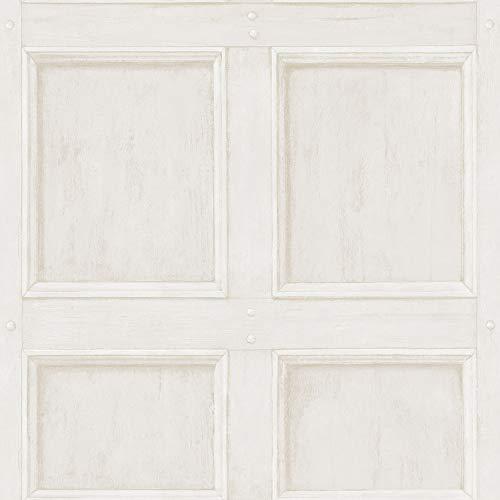 Grace & Gardenia G65001 White Traditional Paneled Walls Wallpaper