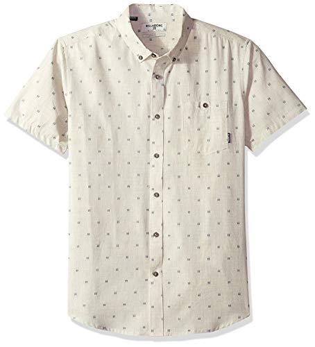 Billabong Men's All Day Jacquard Short Sleeve Shirt Stone Heather 2XL