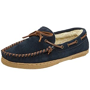 Tamarac by Slippers International Men's Suede Moccasin Slipper