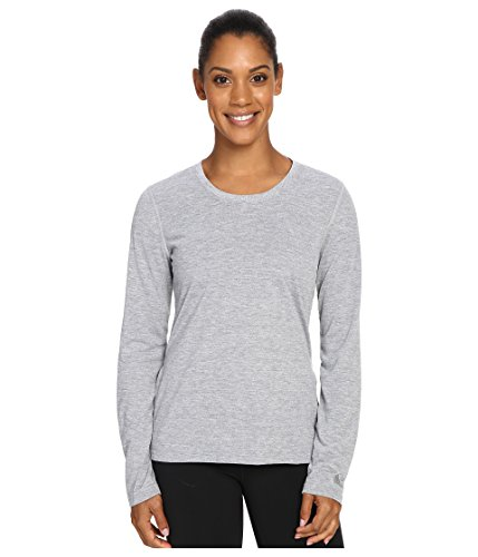 (adidas Women's Ultimate Long Sleeve Tee with Side Opening, X-Small, Medium Grey Heather )