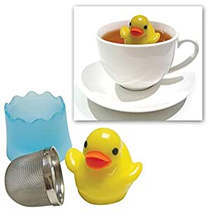 RSVP TEA INFUSER Tea Duckie Mesh Stainless Steel with Base