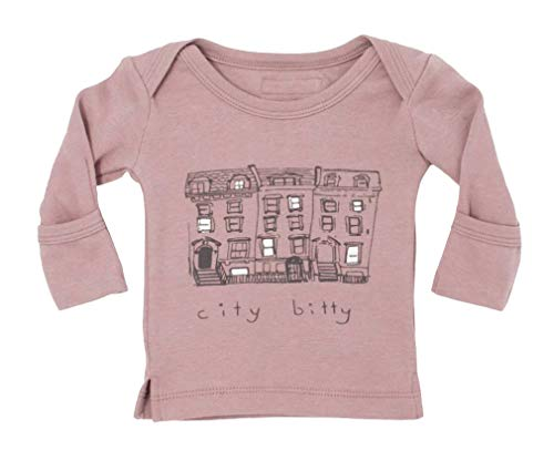 L'ovedbaby Unisex-Baby Organic Cotton Long Sleeve Shirt (Lavender City Bitty, 3-6 Months)