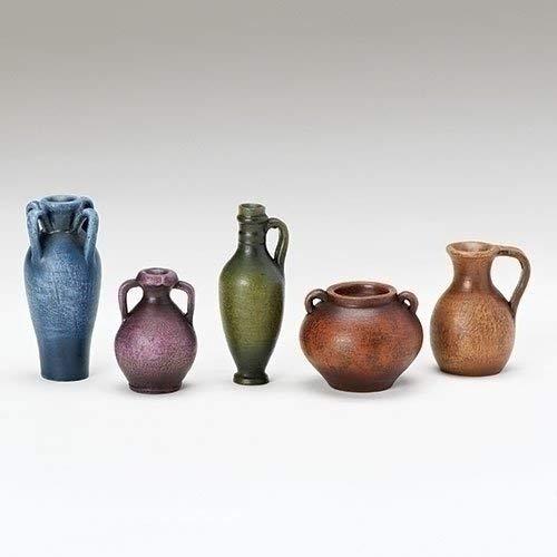 Roman 5 Pieces Set Jugs /& Pots Accessories For 5Nativity Figures Fontanini