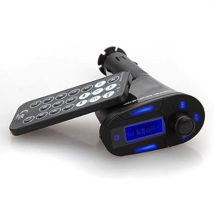 Sainsonic 24-018-302*WB Color Negro USB, Mando a Distancia Transmisor FM con Lector de MP3
