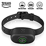 KeShi Bark Collars Anti Bark Collar - Premium Silicone Neck Strap, 5 Levels' Vibration & Static Electric Shock, Rechargeable No Bark Collar for Small (≥10 lb), Medium and Large Dogs Waterproof