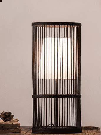 Creative Osraed lampada decorativa lampada retrò camera da letto Comodino caldo salotto divenne il giapponese moderno minimalista Bamboo,nero,l'interruttore a pulsante