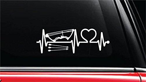 Archery Sports Heartbeat Lifeline Vinyl Die-Cut Decal Sticker for Car, Truck, Notebook, Laptop, Computer or Window (8