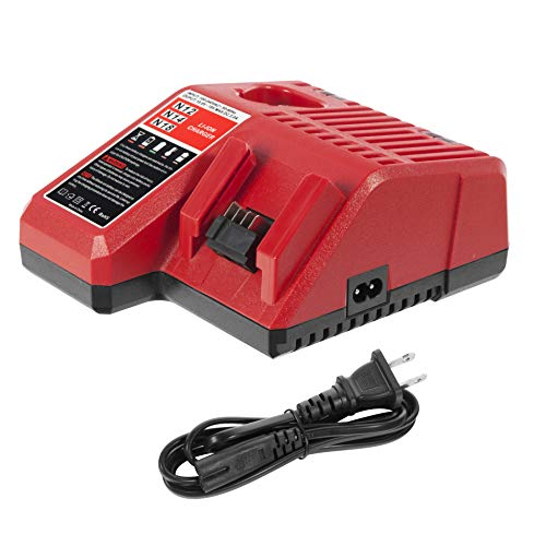 CELL9102 48-59-1812 M18 & M12 Lithium Ion Battery Charger for MIlwaukee 12V-18V Li-ion Battery 48-11-2420 48-11-2440 48-11-1820 48-11-1840 48-11-1850 48-11-2401 48-11-1890