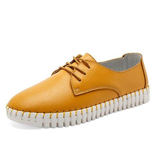 zapatos femeninos de blancos pequeña/Señoras zapatos planos/Zapatos de las señoras/UK air ocio zapatos/Zapatos de cuero C