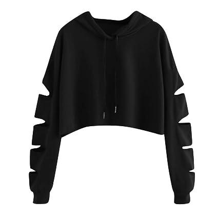 Mujer sudadera con capucha manga larga,Sonnena ❤ Jersey de manga larga para mujer