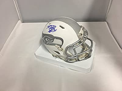 Richard Sherman Autographed Signed Seattle Seahawks RARE ICE Speed Mini Helmet Sherman Player Hologram