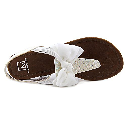 Material Girl Womens Swan1 Open Toe Special Occasion Slingback Sandals White TQBFKGtJ