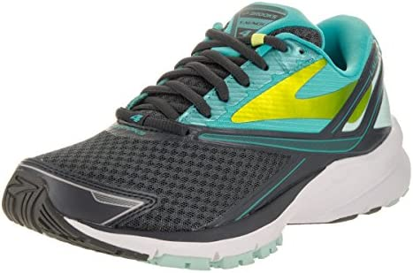 Brooks Womens Launch 4 Running Sneaker Shoe, Anthracite Ceramic Lime Punch, 10