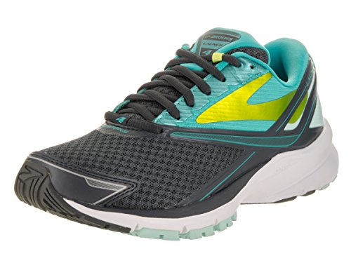 Brooks Women's Launch 4 Anthracite/Ceramic/Lime Punch 10 B US