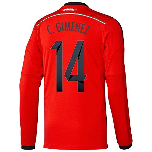 ちなみに申し込む焦げAdidas C. GIMENEZ #14 Mexico Away Jersey World Cup 2014 Long Sleeve/サッカーユニフォーム メキシコ アウェイ用 ワールドカップ2014 背番号14 C.ヒメネス