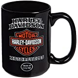 Harley-Davidson American Legend Ceramic Coffee Cup, 15 oz. - Black 3AMB4900