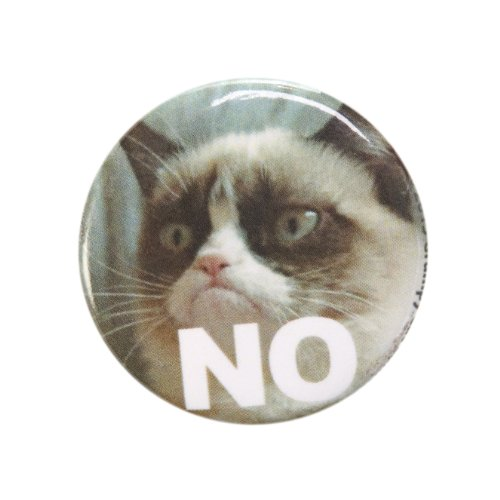 Grumpy Cat No Button 1 Inch Button