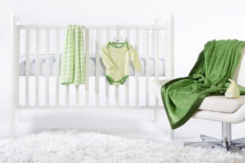 SwaddleDesigns 5 Piece Newborn Lightweight Crib Bedding Set with Cozy Blanket for Parents, Pure Green, 0-3 months [並行輸入品]   B0785W3DLV