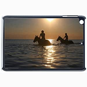 Customized Back Cover Case For iPad Mini 2 Hardshell Case, Black Back Cover Design Horse Personalized Unique Case For iPad Mini 2 wangjiang maoyi