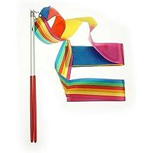 Bilipala Rhythmic Gymnastics Ribbon for Kids, Baton Twirling, Dancing Streamers, 2 Set