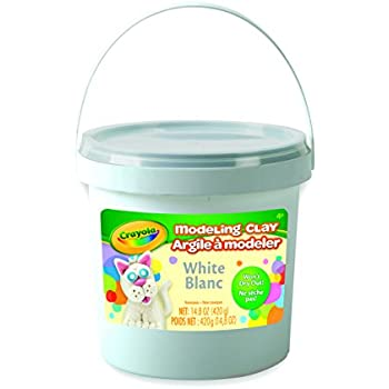 Crayola; White Modeling Clay; Art Tools; 14.8 OZ Bucket; Soft, Pliable Clay Won't Dry Out