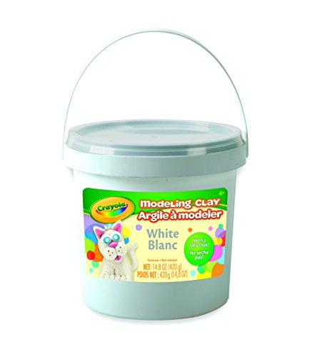 Crayola; White Modeling Clay; Art Tools; 14.8 OZ Bucket; Soft, Pliable Clay Won't Dry (Crayola Foam)