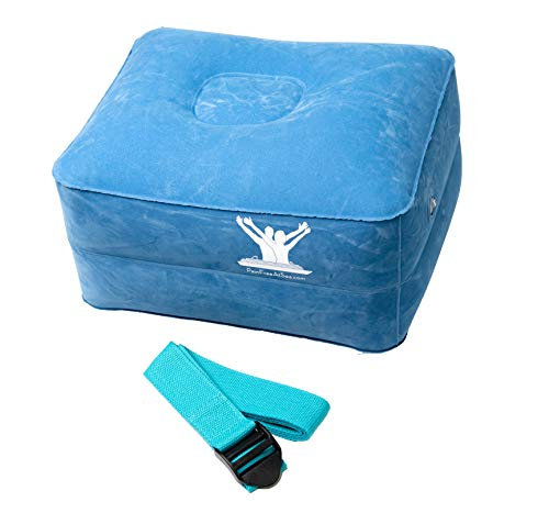 Pain Free-Posture Small INFLATABLE Block and HEALING Aqua Strap/Yoga Belt Bundle-Egoscue-For Resistance, Strength, Balance & Stability of Muscles & Joints of Shoulders/Hips/Pelvis/Knees/Ankles & Spine (Inflatable Yoga Block)