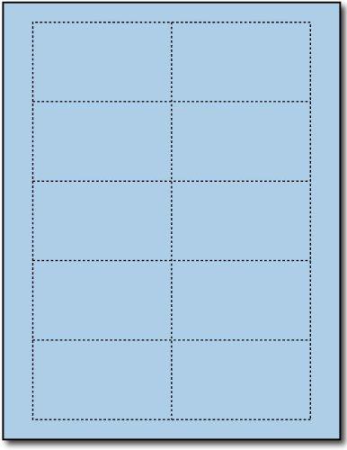 Plain Blue 110lb Index Business Cards - 25 Sheets/250 Business Cards - Desktop Publishing Supplies, Inc.™ Brand by Desktop Publishing Supplies, Inc.